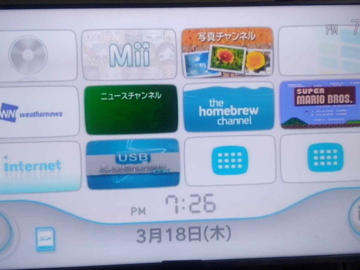 任天堂Wii 本体 黒 外付けHDD 250GB SD カード 動作確認済み