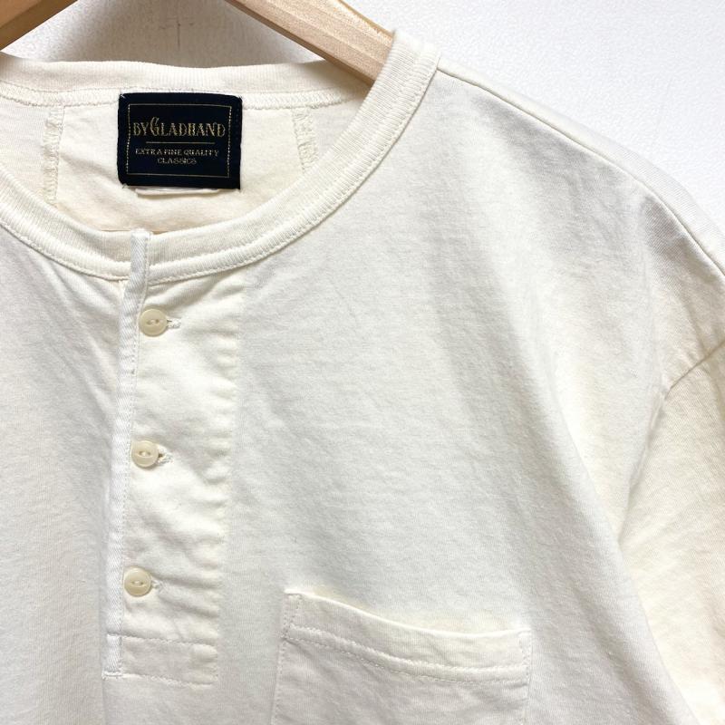 GLAD HAND/グラッドハンド Tシャツ 半袖 BY GLAD HAND ROUND THE WORLD - S/S HENRY NECK T-SHIRT ヘンリーネック Tシャツ L_画像3