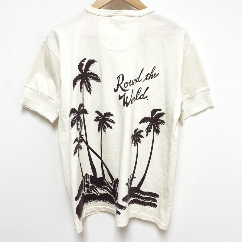 GLAD HAND/グラッドハンド Tシャツ 半袖 BY GLAD HAND ROUND THE WORLD - S/S HENRY NECK T-SHIRT ヘンリーネック Tシャツ L_画像2
