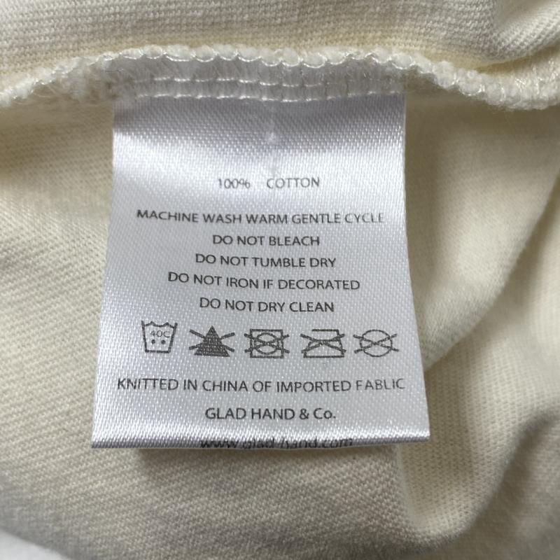 GLAD HAND/グラッドハンド Tシャツ 半袖 BY GLAD HAND ROUND THE WORLD - S/S HENRY NECK T-SHIRT ヘンリーネック Tシャツ L_画像6