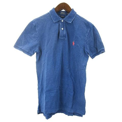 ポロ ラルフローレン POLO RALPH LAUREN ポロシャツ 半袖 カスタムスリムフィット S インディゴ 210301O