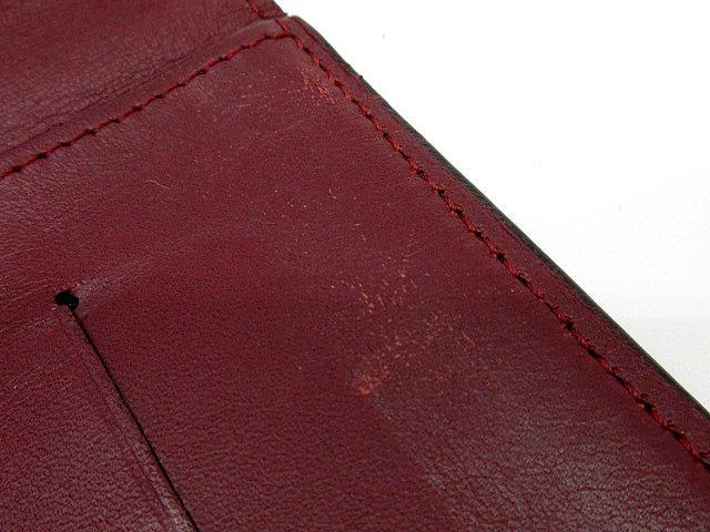 カルティエ Cartier ルイ カルティエ 二つ折り 長財布 インターナショナル ウォレット カーフレザー L3001405 黒 ブラック ボルドー メンズ_画像7