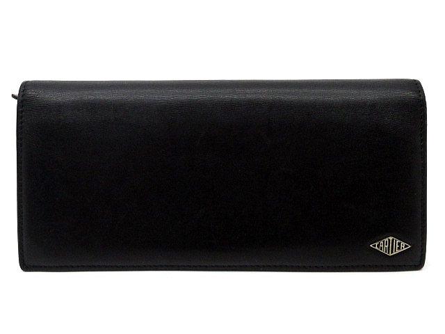 カルティエ Cartier ルイ カルティエ 二つ折り 長財布 インターナショナル ウォレット カーフレザー L3001405 黒 ブラック ボルドー メンズ_画像1