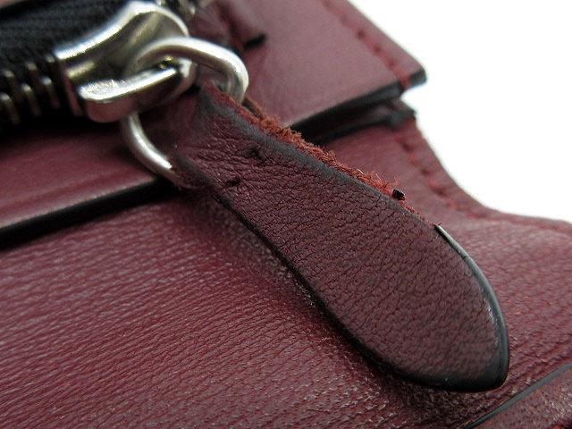 カルティエ Cartier ルイ カルティエ 二つ折り 長財布 インターナショナル ウォレット カーフレザー L3001405 黒 ブラック ボルドー メンズ_画像9