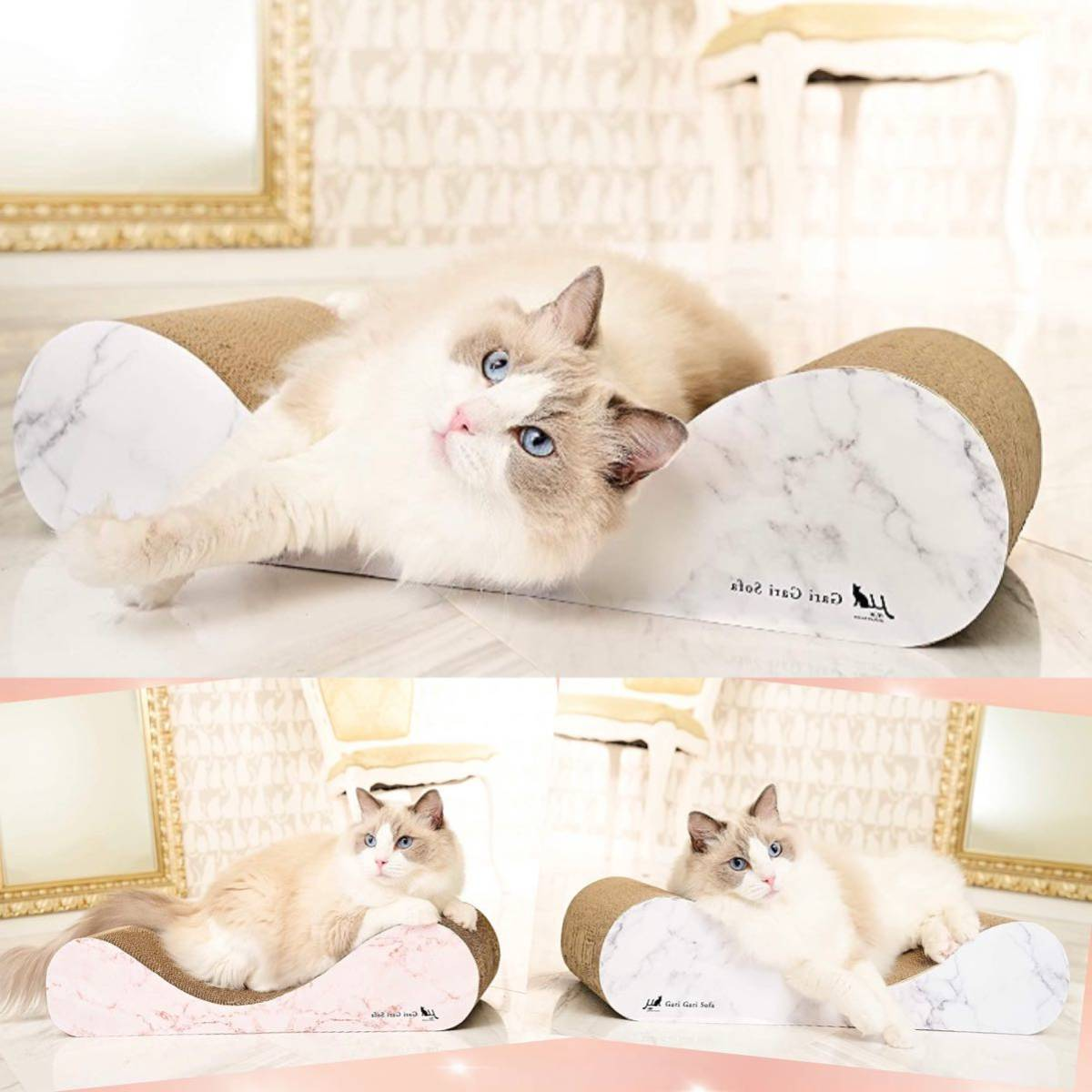 【ラグジュアリーで高級感溢れるマーブル(大理石)柄★愛猫ちゃんが最高に寛げるよう開発された愛猫ちゃん専用ソファ型クラウチングタイプ】