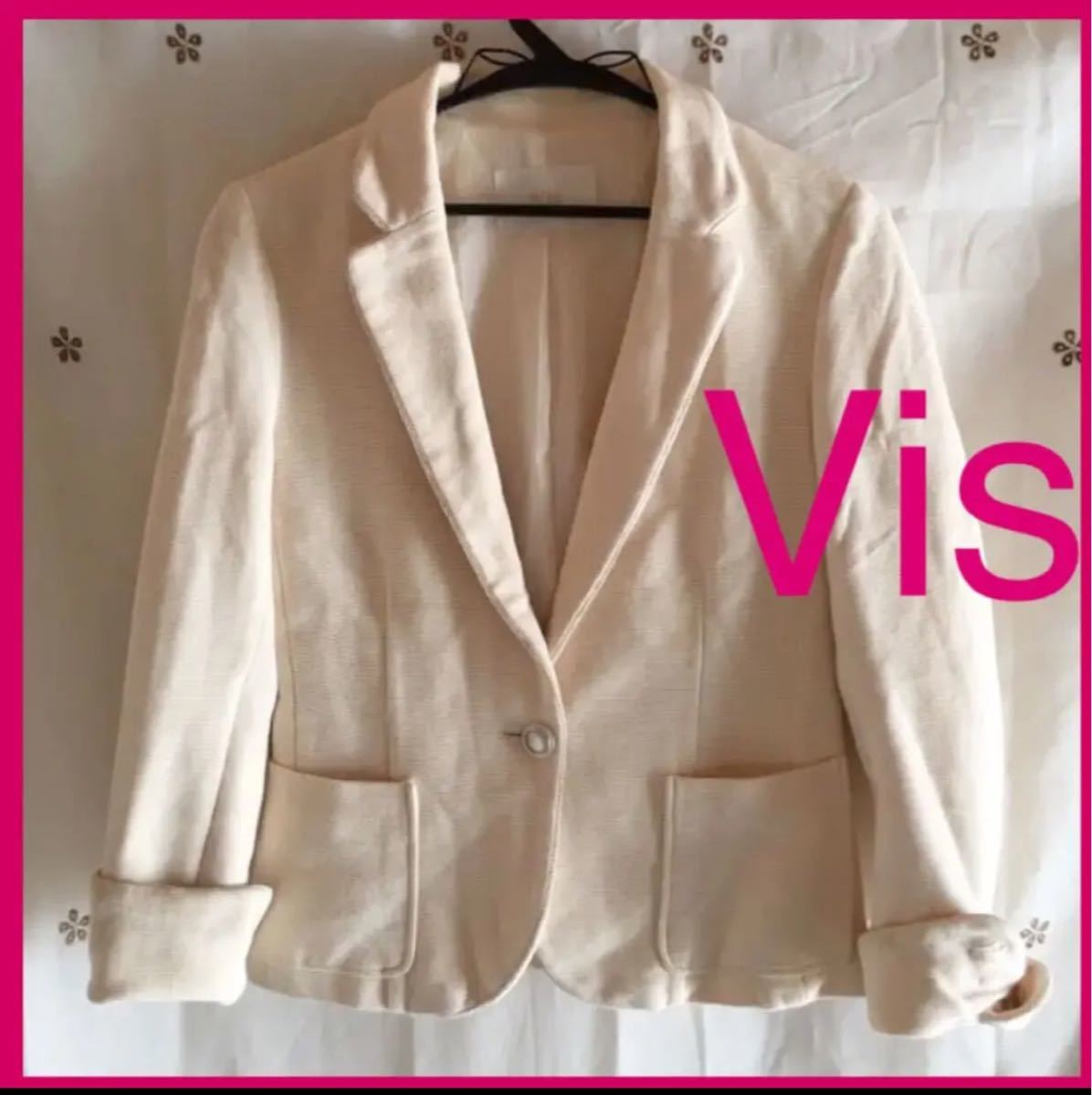 テーラードジャケット アイボリー ホワイト 卒園式 入学式 ジャケット Vis 白 S