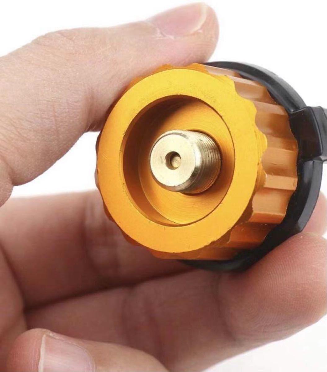 ガス缶 変換アダプター ガス変換器カセットガスアダプターODCB缶詰め替えスペア