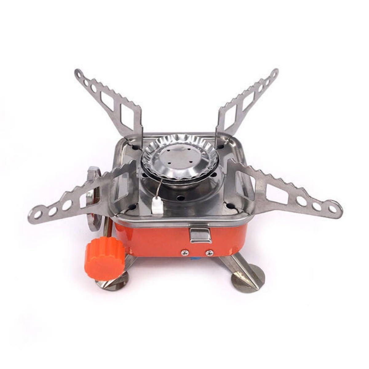 シングルバーナー コンロ コンパクト 軽量 折り畳み バーベキュー卓上ガスコンロ