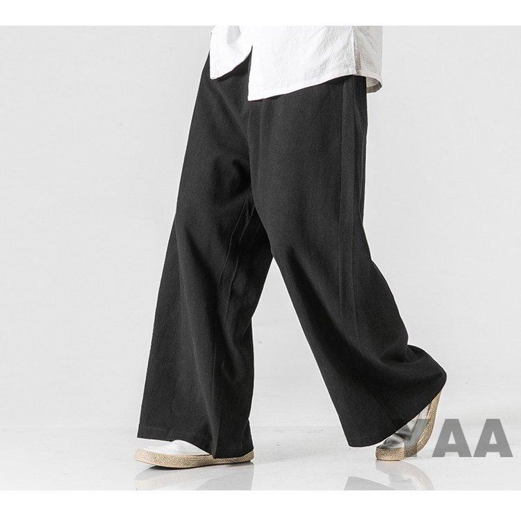 麻パンツ メンズ ワイドパンツ サルエル 涼しいズボン メンズ ワイドパンツ サルエルパンツ 涼しいズボン 麻パンツ リネンパンツ イージー