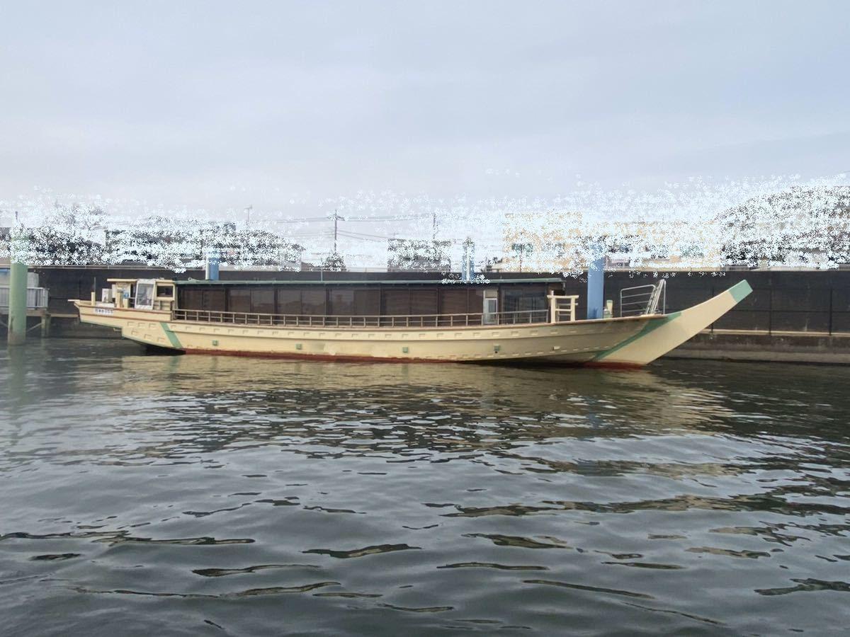 屋形船 19トン 54名 フル装備 即営業可_画像1