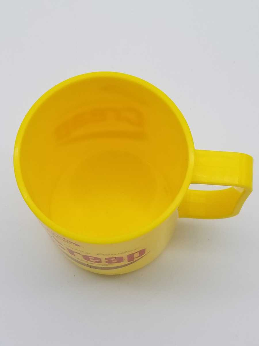 非売品 森永 クリープマグ 未使用 高さ約10.5㎝ 当時物 昭和レトロ ノベルティ プラスチック製 マグカップ デッドストック レア No.3_画像3