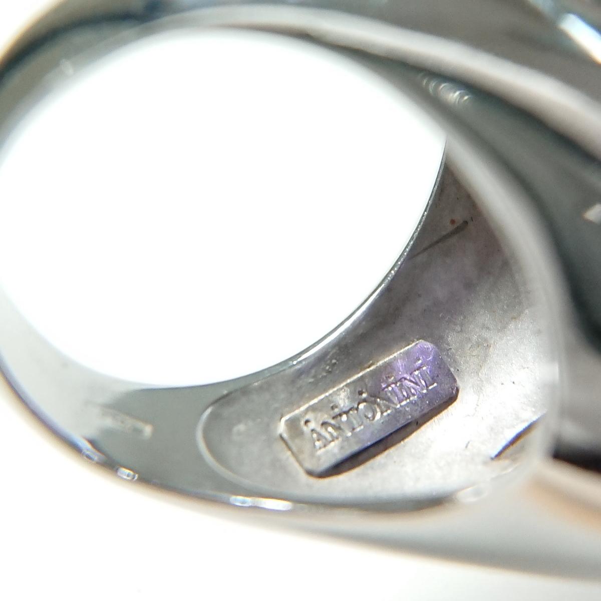 【送料無料】アントニーニ ANTONINI 750WG/YG アメジスト グリーンガーネットリング 11号★新品仕上げ済美品★_画像8
