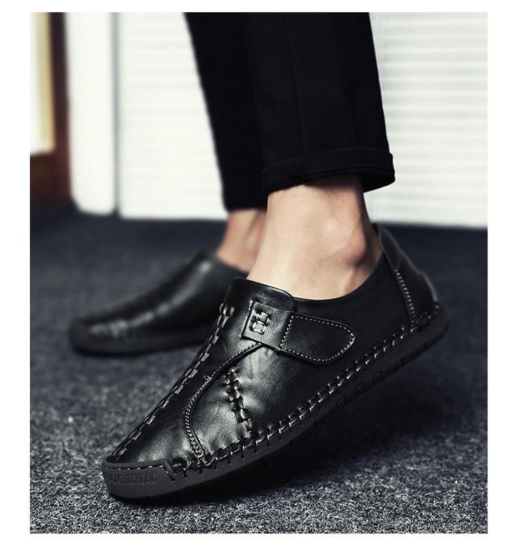 新品 メンズ スリッポン ローファー ドライビングシューズ 紳士靴 カジュアル ローカット 黒_画像4