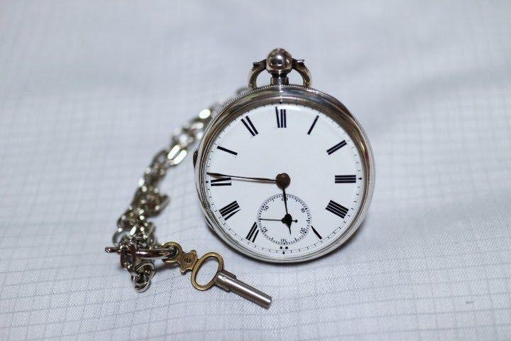 即決 銀無垢 1875年 英国製 超希少 CCWM製造 機械式 懐中時計_画像6