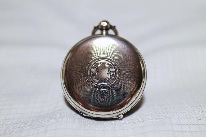 即決 銀無垢 1875年 英国製 超希少 CCWM製造 機械式 懐中時計_画像9
