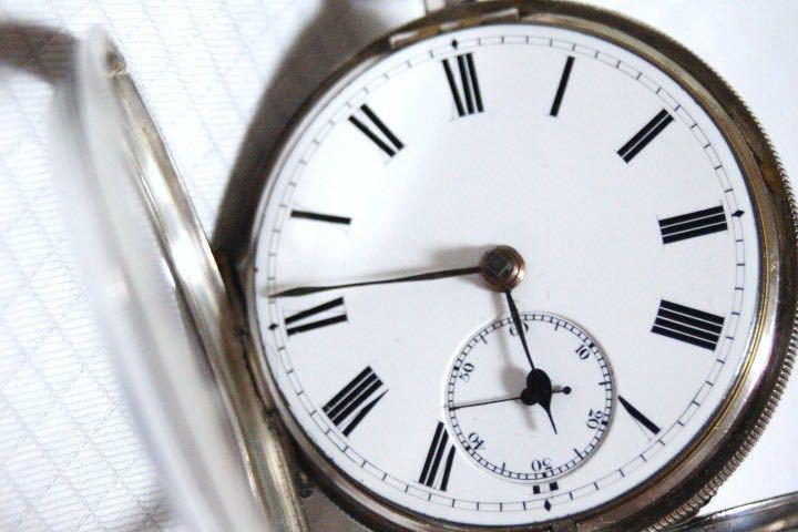 即決 銀無垢 1875年 英国製 超希少 CCWM製造 機械式 懐中時計_画像8
