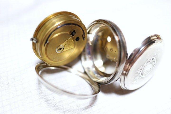 即決 銀無垢 1875年 英国製 超希少 CCWM製造 機械式 懐中時計_画像2