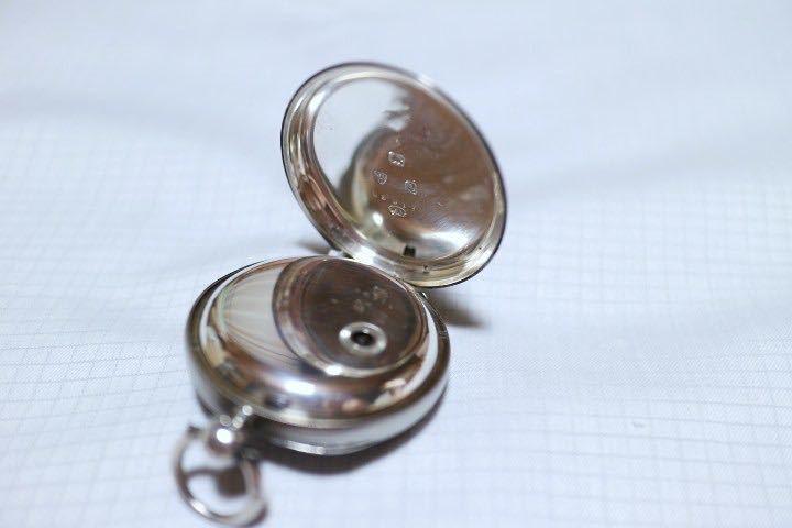 即決 銀無垢 1875年 英国製 超希少 CCWM製造 機械式 懐中時計_画像4