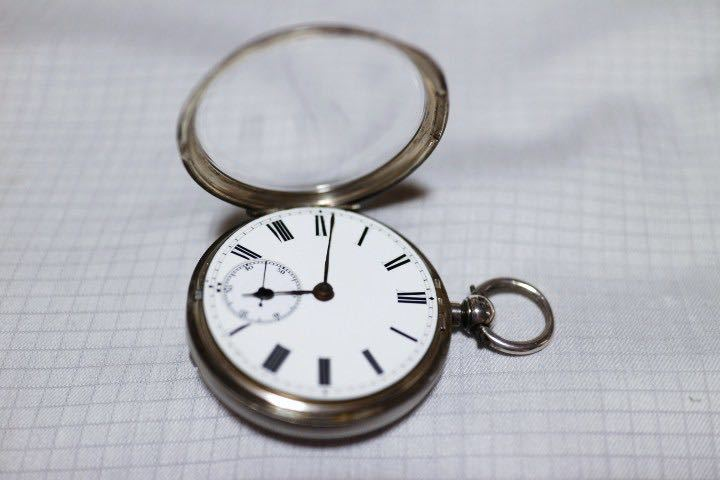 即決 銀無垢 1875年 英国製 超希少 CCWM製造 機械式 懐中時計_画像7