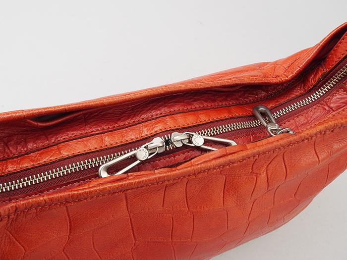 【極美品】 aniary アニアリ ショルダーバッグ ボディーバッグ 型押し加工 ブラウン レザー (022)_画像6