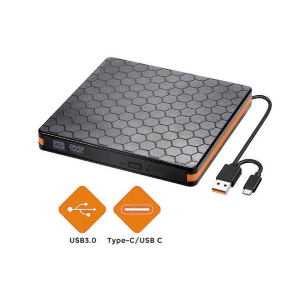USB3.0 Type C 外付け DVD ドライブ 薄型