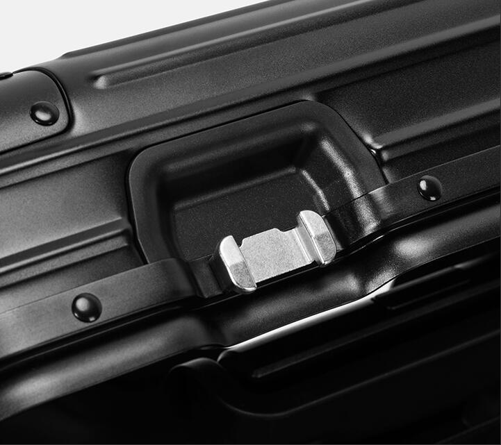 アルミスーツケース 17インチ ブラック 機内持ち込み 小型 アルミトランク 旅行用品 TSAロック キャリーケース キャリーバッグ_画像7
