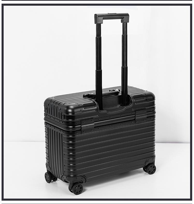 アルミスーツケース 17インチ ブラック 機内持ち込み 小型 アルミトランク 旅行用品 TSAロック キャリーケース キャリーバッグ_画像3