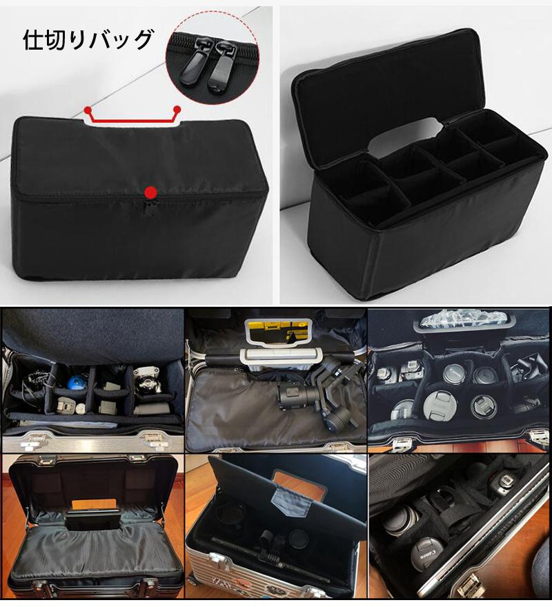 アルミスーツケース 17インチ ブラック 機内持ち込み 小型 アルミトランク 旅行用品 TSAロック キャリーケース キャリーバッグ_画像5