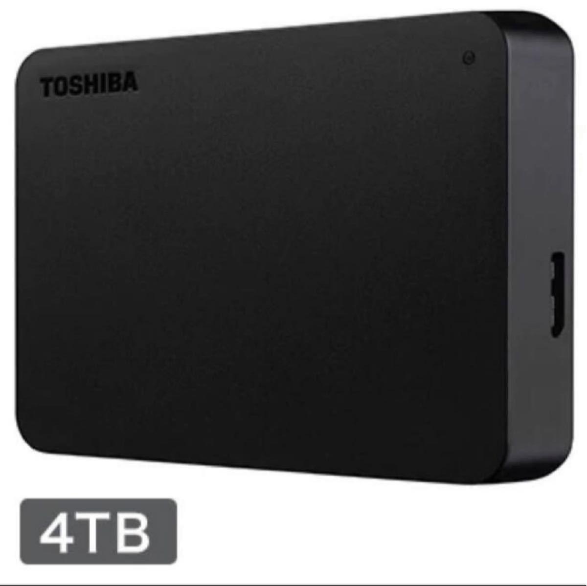東芝 外付けポータブルハードディスク 4TB ブラック HDAD40AK3-FP