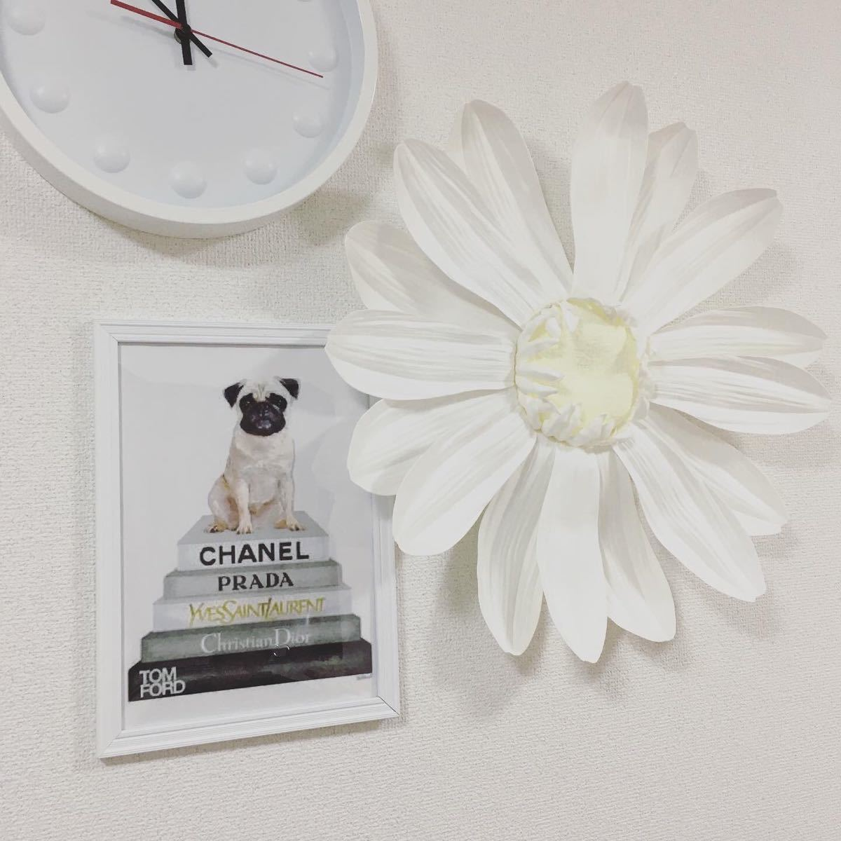 アートポスター A4サイズ  白フレーム付き 壁掛け