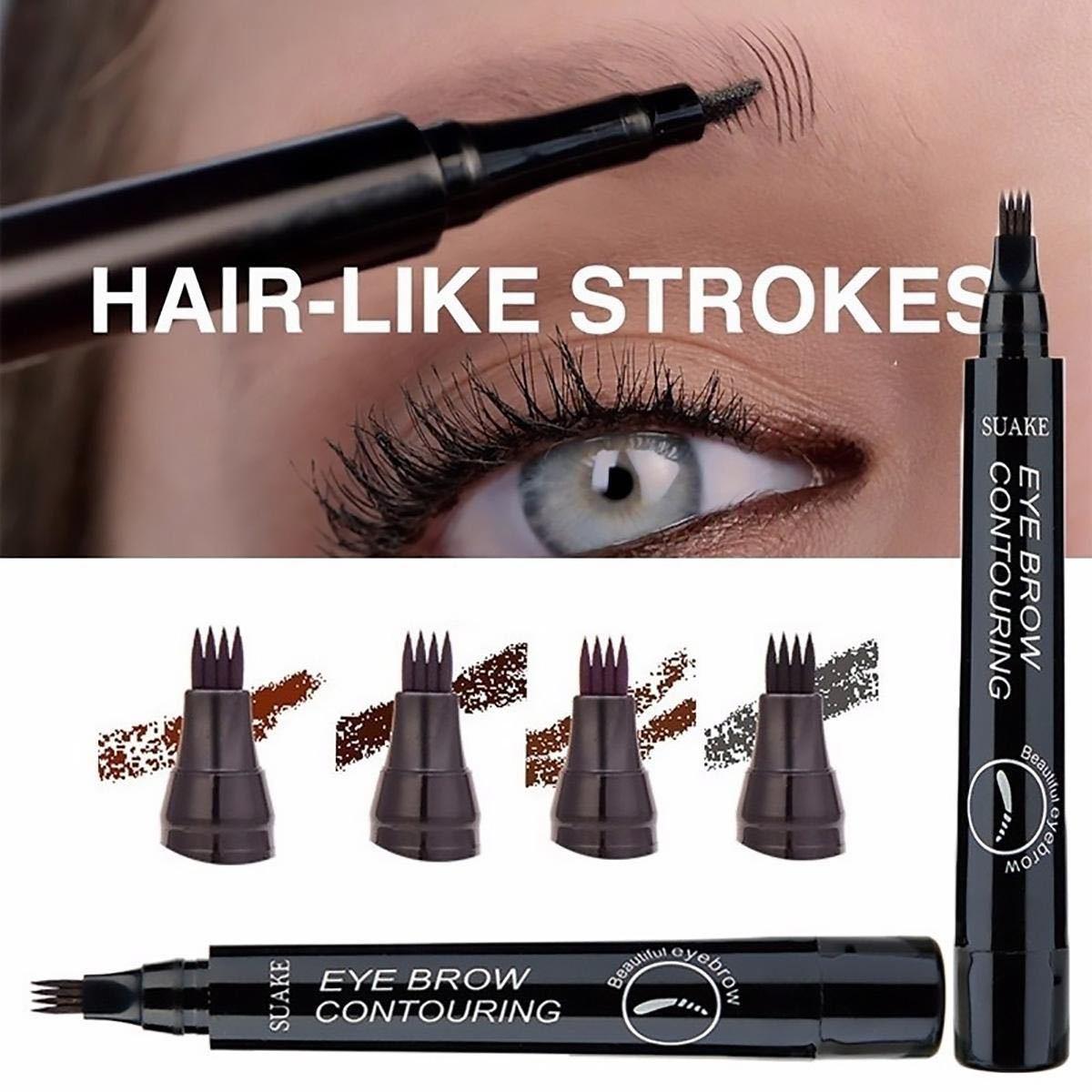 3Dアイブロウペンシル 眉毛ペン グレイブラウン ティント 立体眉