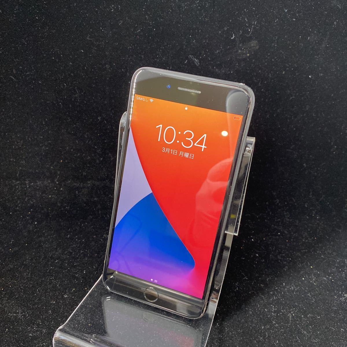 SIMフリー iPhone7 Plus 128GB Jet Black シムフリー アイフォン7 プラス ジェットブラック 黒 本体_画像1