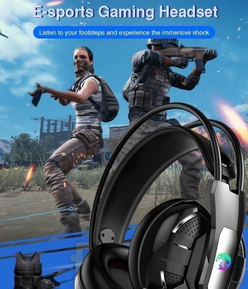 新品★送料無料 ゲーミングヘッドセット マイク付き 人気 ヘッドホン ゲーマー FPS アクション 映画 音楽 PC/ゲ E544_画像4