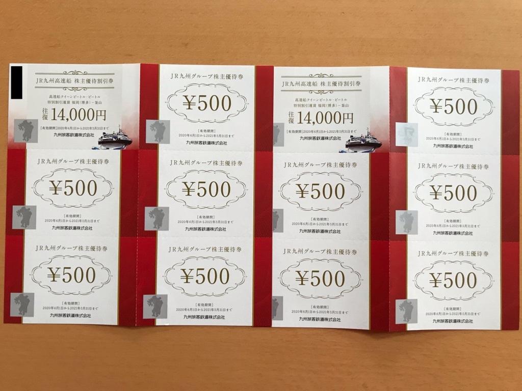 JR九州 九州旅客鉄道 高速船割引券×2枚/株主優待割引券5000円分 2022/05/31まで _画像1