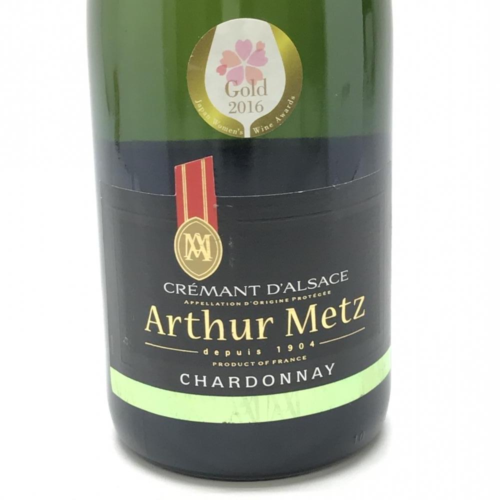 未開栓 Arthur Metz アーサーメッツ クレマン ダルザス シャルドネ 750ml 12度数 スパークリングワイン 果実酒 白 辛口 管理YK22422_画像3