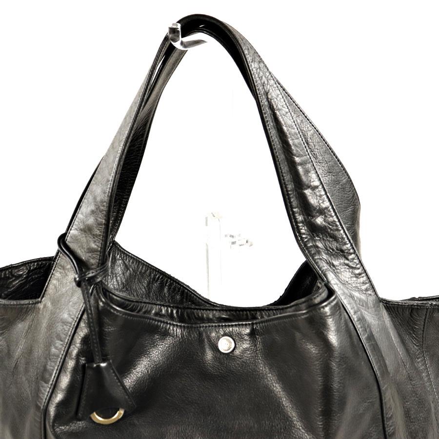 参考価格¥42,120- メンズ 人気 美品 日本製 aniary アニアリ 牛革 カウスキン オールレザー トートバッグ 肩がけ可能 横型 黒 ブラック_画像3