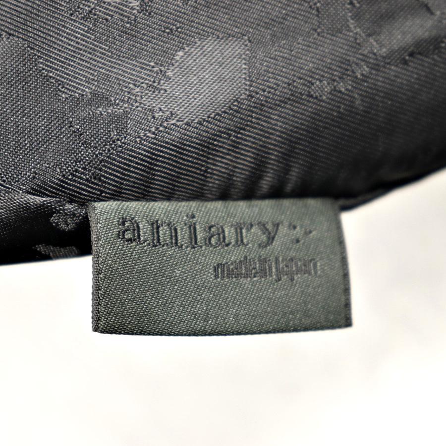 参考価格¥42,120- メンズ 人気 美品 日本製 aniary アニアリ 牛革 カウスキン オールレザー トートバッグ 肩がけ可能 横型 黒 ブラック_画像7