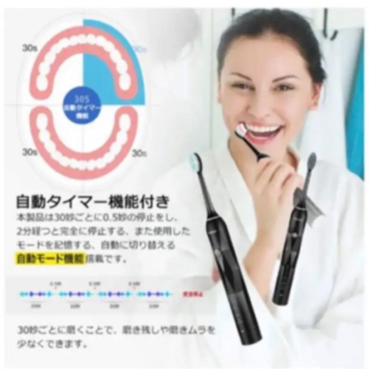 電動歯ブラシ 充電式 音波歯ブラシ 電動ハブラシ はみがき 歯磨き ハミガキ 歯垢 ハブラシ 音波振動歯
