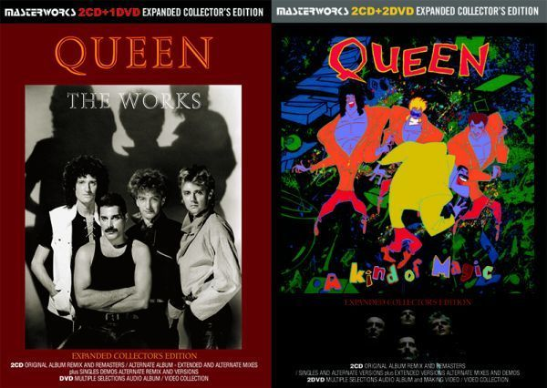 QUEEN / THE WORKS A KIND OF MAGIC -EXPANDED COLLECTOR'S EDITION シリーズ 2タイトル セット [計 4CD+2DVD] 新品 輸入 クイーン_画像1