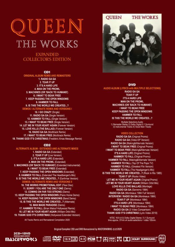 QUEEN / THE WORKS A KIND OF MAGIC -EXPANDED COLLECTOR'S EDITION シリーズ 2タイトル セット [計 4CD+2DVD] 新品 輸入 クイーン_画像2