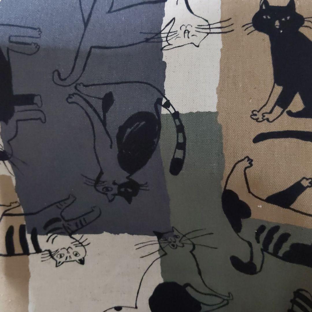 コスモテキスタイル猫綿麻キャンバス約110cmx97cm