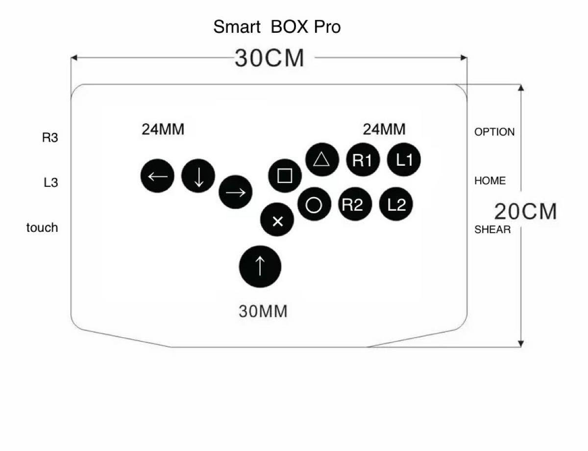 Smart BOX Pro (SOCD対応hitbox型)(PS3/PS4/PC対応)【SBP24】
