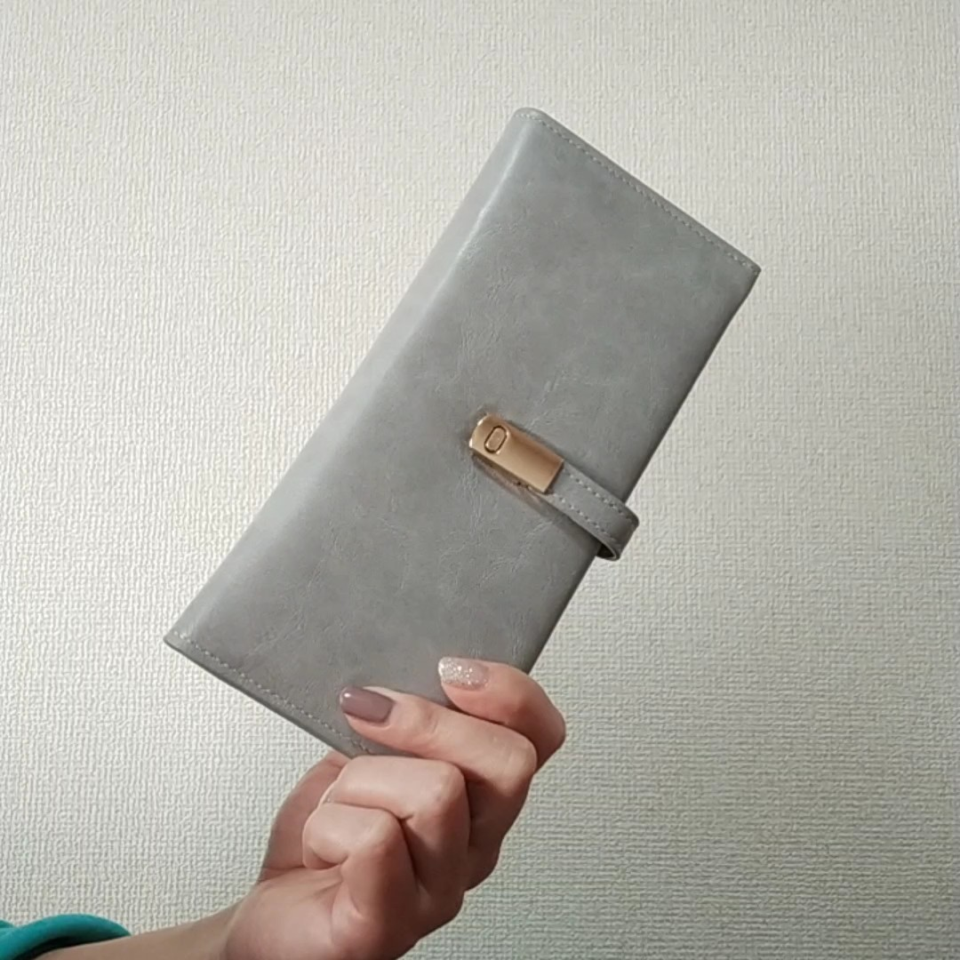 長財布薄型ウォレットレディース二つ折りPUレザーシンプル高級小銭入れ