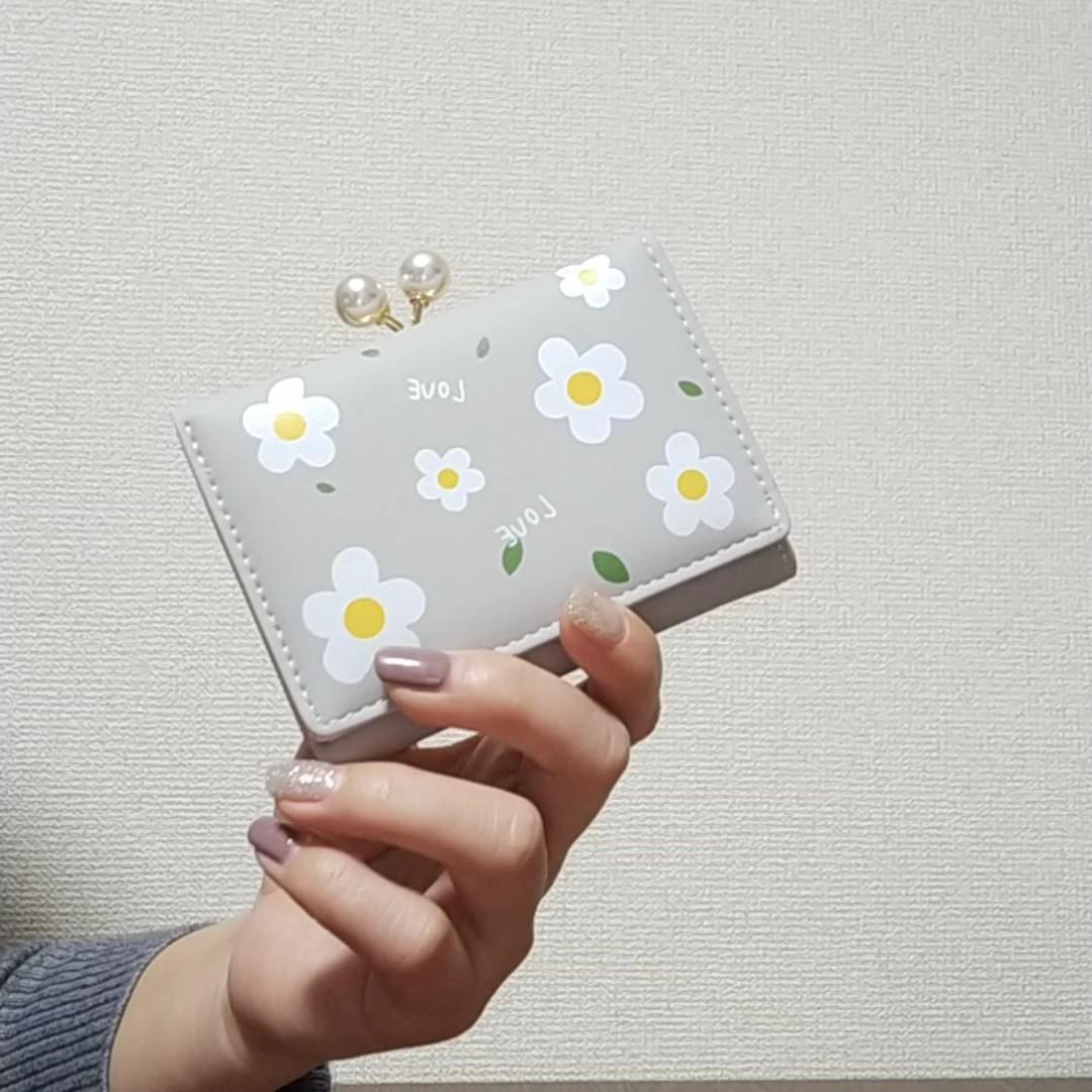 三つ折り財布 コインケース ミニ財布 コンパクト ウォレット がま口 財布