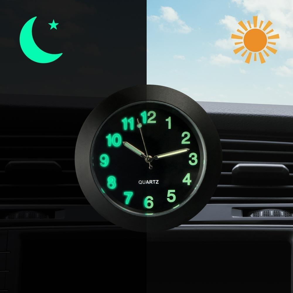 Ia0010 ☆新品☆ 車のクォーツ時計 車の装飾 装飾品 インテリア時計 デジタル時計 クォーツ時計 シルバー ブラック 発光 _画像1