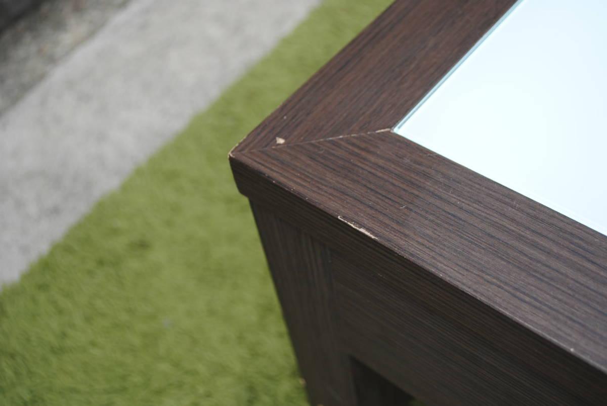 き333 テーブル/センターテーブル/ローテーブル/ガラス天板/引き出し収納/家具/ジューンセンターテーブル/120㎝×60㎝×40㎝_画像3