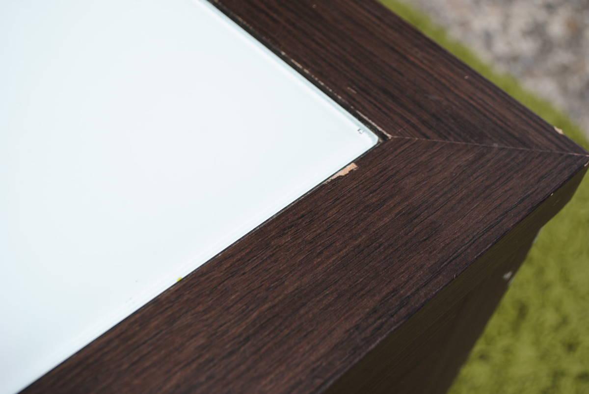 き333 テーブル/センターテーブル/ローテーブル/ガラス天板/引き出し収納/家具/ジューンセンターテーブル/120㎝×60㎝×40㎝_画像6