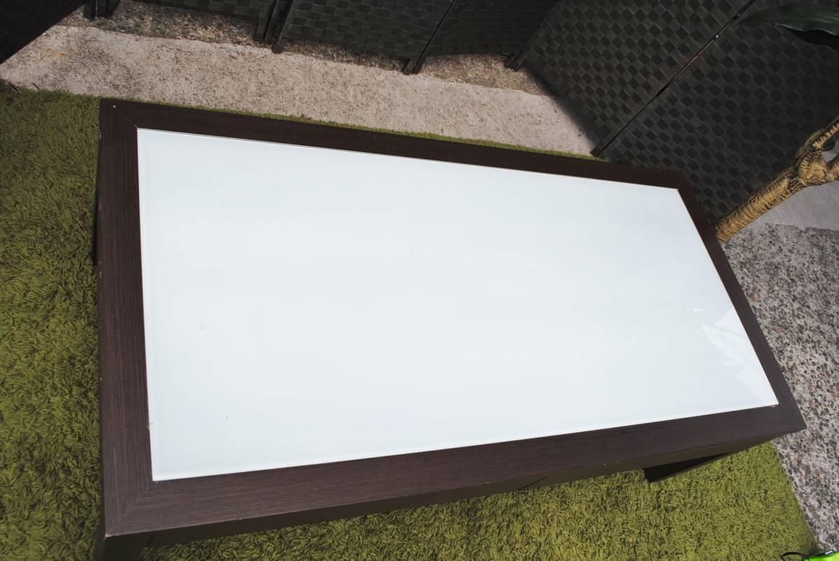 き333 テーブル/センターテーブル/ローテーブル/ガラス天板/引き出し収納/家具/ジューンセンターテーブル/120㎝×60㎝×40㎝_画像2