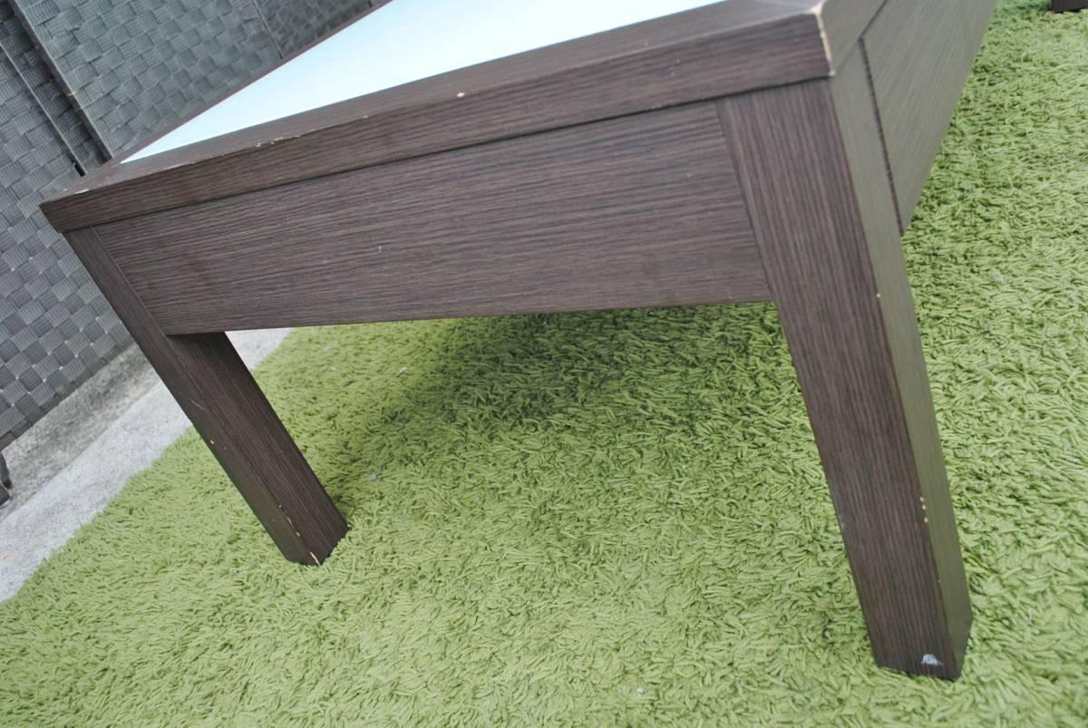 き333 テーブル/センターテーブル/ローテーブル/ガラス天板/引き出し収納/家具/ジューンセンターテーブル/120㎝×60㎝×40㎝_画像5
