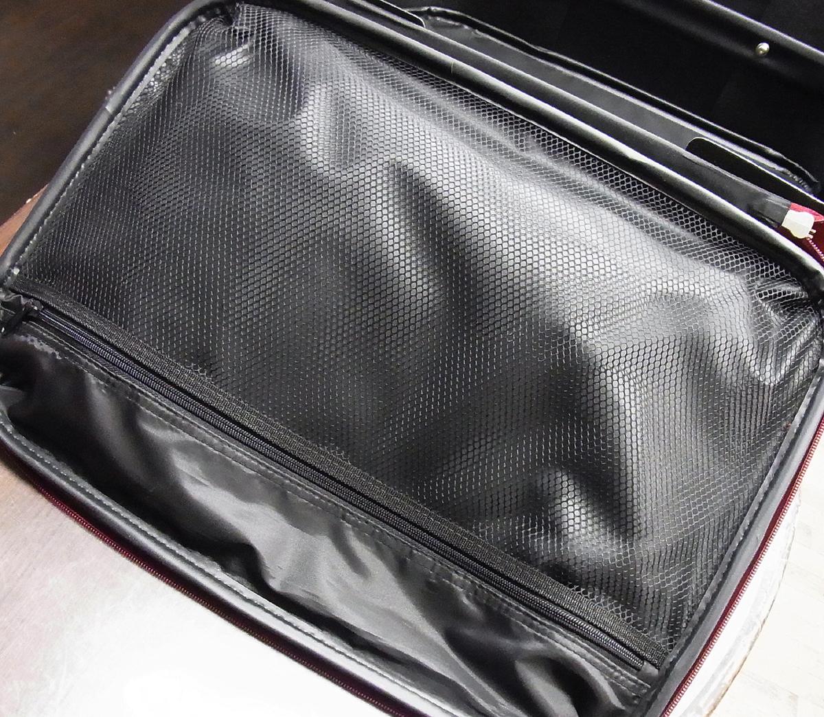 JETAGE/ジェットエイジ ソフト キャリーバッグ ワインレッド 機内持ち込みサイズ 鍵欠品 キャリーケース/スーツケース/トラベルバッグ_画像5